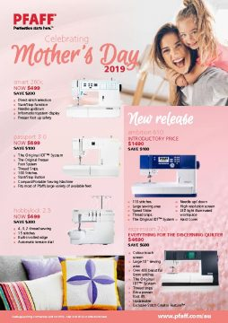 PFAFF Mothers Day Specials 2019
