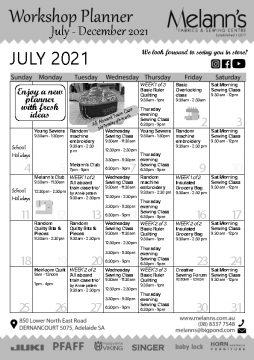 July - December 2021 Calenadar