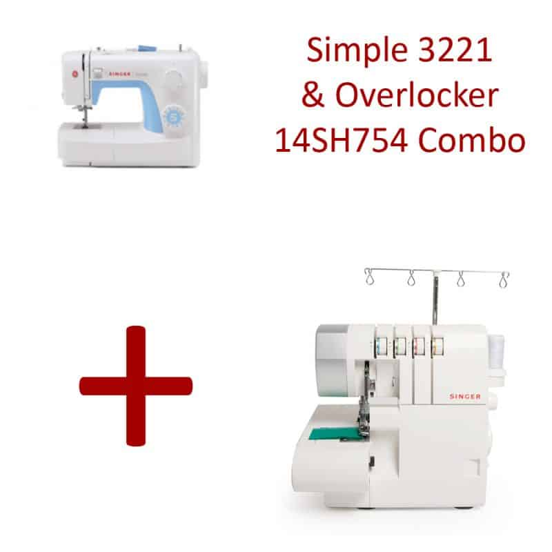 Singer Simple 3221 & Overlocker 14SH754 Combo