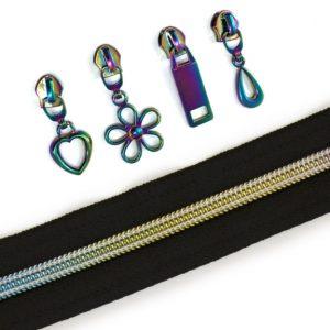 iridescent zipper